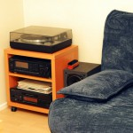 Our lounges couch and hifi system