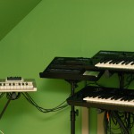 Synth rig: X-station, D-50, Wavestation EX