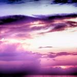 Intense color sky